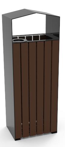 Урна Амазонка (350x255x945 мм)