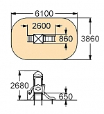 Детский игровой комплекс-017 (ДИК-017)