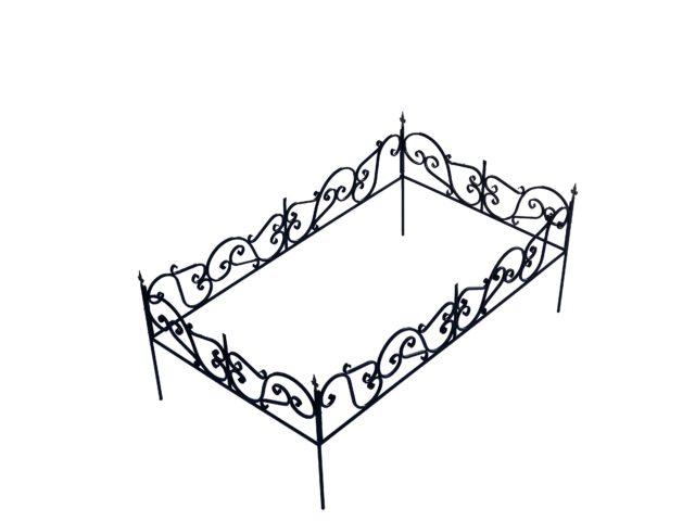 ОК-06 Ограда кованая 2200*1300*350 мм